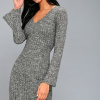 Lewisburg Heather Grey Bodycon Midi Dress