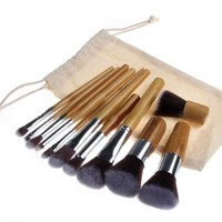 Nsstar Professional Cosmetic Makeup Brush Set with Bag (Bamboo:11 PCS) by GomeBuy
