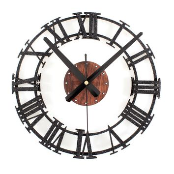 Rustic Iron Style Roman Numerals Wall Clock -3 Colors Available