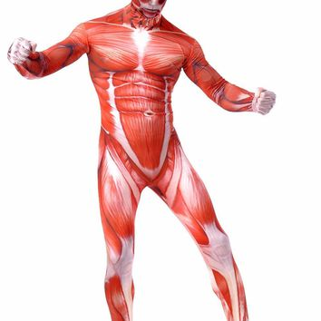 Cool Attack on Titan OVIGILY  Cosplay Costumes Adult Lycra Spandex Full Zentai Bodysuits Men Muscle Suit Second Skin Tights Halloween AT_90_11