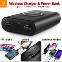 MCDODO Qi Wireless Charger Fast Charing Pad Power Bank Battery F iPhone X 8 Plus
