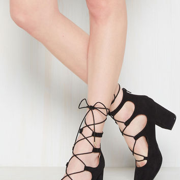 Power Couple Block Heel in Black | Mod Retro Vintage Heels | ModCloth.com
