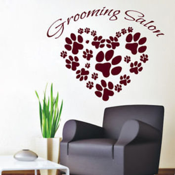 Wall Decals Vinyl Decal Sticker Pet Shop Art Cat Dog Grooming Salon Decor KG880