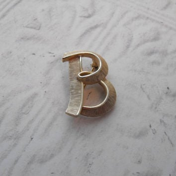 Trifari Initial B Monogram Letter Pin by GiltyGirlVintage on Etsy