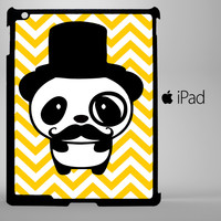 Cute Panda Mustache iPad 2, iPad 3, iPad 4, iPad Mini and iPad Air Cases