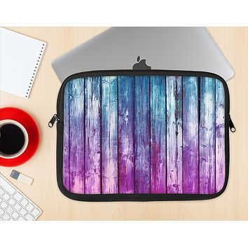The Pink & Blue Dyed Wood Ink-Fuzed NeoPrene MacBook Laptop Sleeve