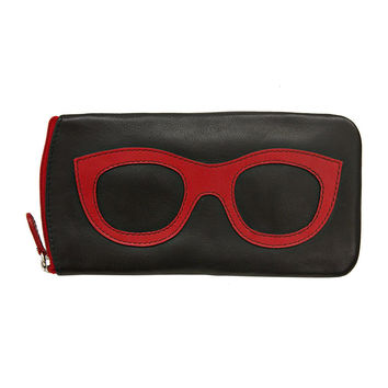 Eyeglass Case - Black/Red