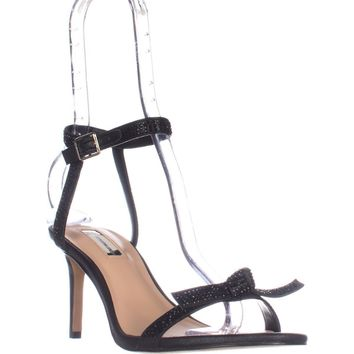 I35 Laniah Ankle Strap Evening Sandals, Black, 7 US