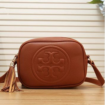 TORY BURCH Women Leather Shoulder Bag Crossbody Satchel