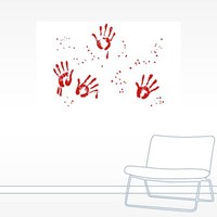 Bloody Handprints - Halloween Wall Decal
