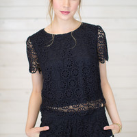 Lilly Lace Crop Top