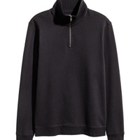 Sweatshirt with Collar - from H&M