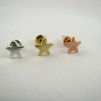 Little Star stud Earrings /Sterling Silver, 14K Gold, or Rose Gold/ Everyday Jewelry