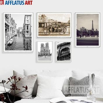 Paris Venice Rome Building Landscape Wall Art Canvas Painting Nordic Posters And Prints Wall Pictures For Living Room Home Decor