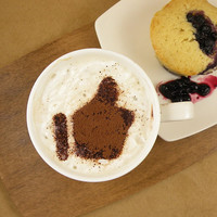 Thumb up - coffee stencil, cake stencil, cupcake stencil