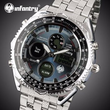 Men Analog Water Resistant Alarm Digital Watch