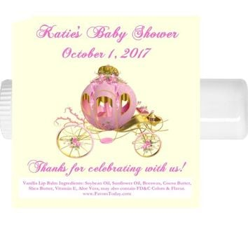 15 Princess Baby Shower Lip Balm Favors Carriage