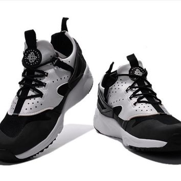 NIKE warm casual shoes sports running shoes Black white