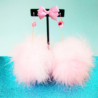 PURRFECT FLUFFY EARRINGS — NIKKI LIPSTICK