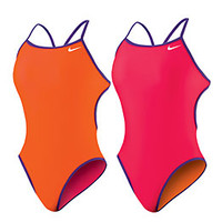 Nike Swim Reversible Solids Cut Out Tank at SwimOutlet.com - Free Shipping