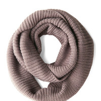 Infinity Plus One Circle Scarf in Taupe | Mod Retro Vintage Scarves | ModCloth.com