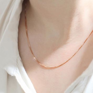 Rose Gold Chain Necklace For Men & Women