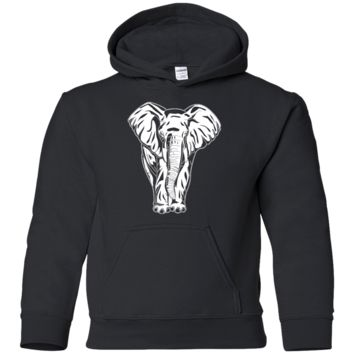 Living You Co. Elephant Youth Hoodie | Elephant Youth Sweatshirt, Elephant Youth Sweater, Elephant Hoodie For Boys | Keep Your Loved Ones Warm and Comfy | YS, YM, YL, YXL