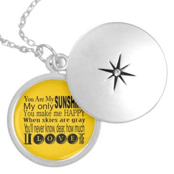 You Are My Sunshine Apparel and Gifts Personalized Necklace
