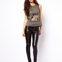 ASOS Skinny Trousers In Leather Look