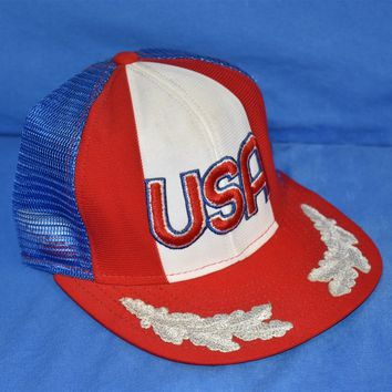 80s United States Of America Mesh Trucker Hat