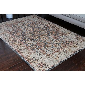 8703 Gray Rustic Oriental Area Rugs