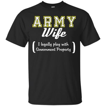Army Wife Funny T Shirt_Black
