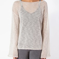 Women's Boatneck Sweater with Bell Sleeves