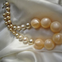 Creme Colored Statement  Necklace
