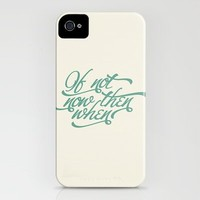 If not now when iPhone Case by INDUR | Society6