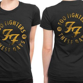 DCCKL83 Foo Fighter Vintage 2 Sided Womens T Shirt
