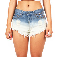 Double Dip Cutoff Shorts | High Waisted Shorts at Pink Ice