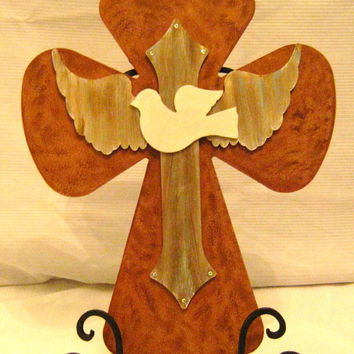 Handmade Dove Cross/ Angel Wing Cross,Home Living,  Home Decor Wooden Crosses