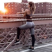 Running Set Women Sportswear Gym Clothing Yoga Clothing Yoga Set Fitness Set Yoga Jumpsuit Womens Sport Fitness Clothes 2pcs/set