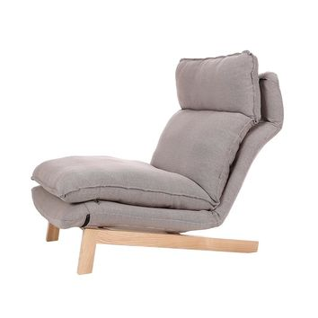 Floor Foldable Sofa Chair Modern Fabric Japanese Sofa Furniture Armless Lounge Recliner Living Room Occasional Accent Chair