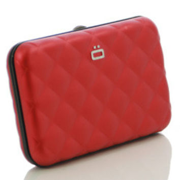 Ogon Quilted Style Aluminum Credit Card Case - multiple colors