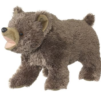 13 Inch Roaring Grizzly Bear Stuffed Animal with Roar Sound