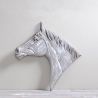 Vintage Large Metal Horse Head Wall Display