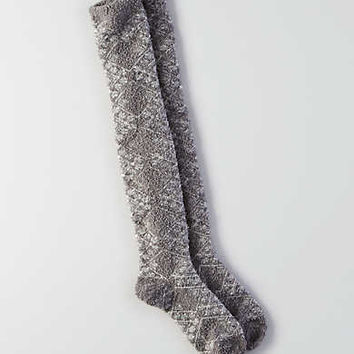 AEO Pointelle Over-the-Knee Socks, Light Heather