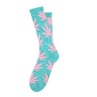 Huf: Plantlife Socks - Teal Heather / Pink (FW14)