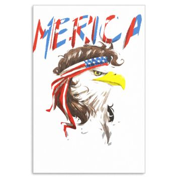 Eagle Mullet Merica American USA 4th of July Freedom Canvas Art
