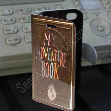 my adventure book up PVC (syntetic) Leather Folio Case for iPhone and Samsung Galaxy