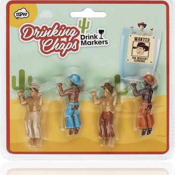 Drinking Chaps - Hunky Cowboy Drink Markers!