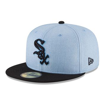 Men's Chicago White Sox New Era Light Blue 2018 Father's Day On Field 59FIFTY Fitted Hat