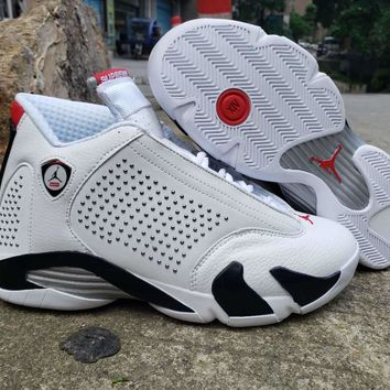 Supreme x Air Jordan 14 White Diamond